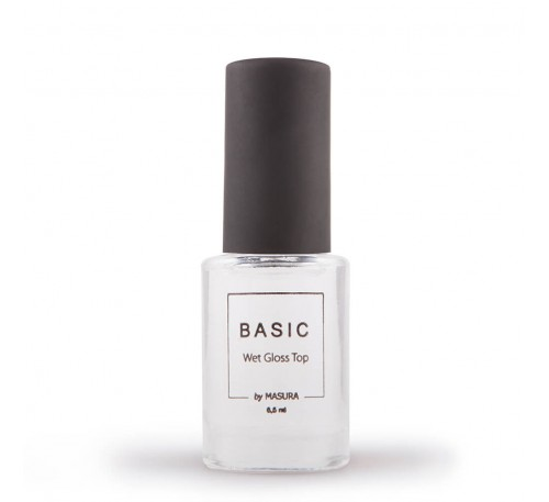 """Топ  Masura """"Basic wet gloss top"""" с эффектом мокрого блеска"""